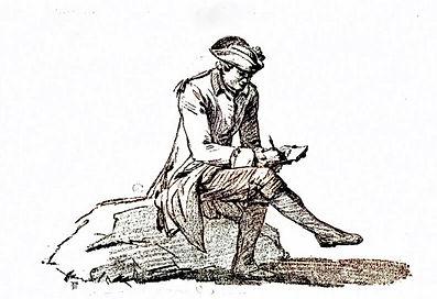 Pierre Ozanne dessinant, réduction du fa