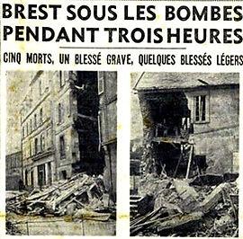 Plouguin patrimoine fagon caroline victime bombardement Brest 1941