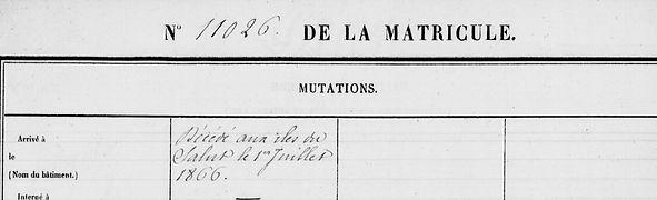 Lazou Jean François Marie morlaix feuille huet bagne guyane bagnard