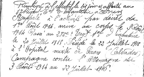 kerbrat charles jean marie brest caen 14-18 Finistère Non Mort France Réformé maladie tuberculose suicide fusillé accident