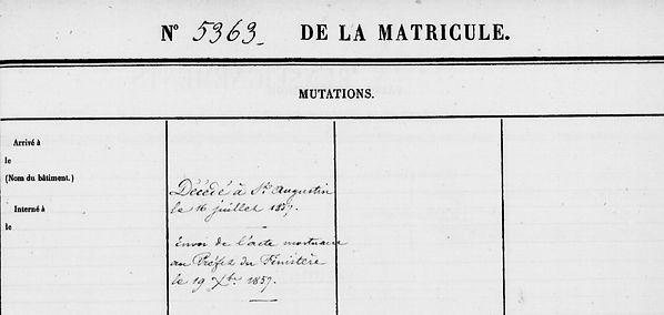 Le Lann Yves lanhouarneau plounevez lochrist mestre bagne guyane bagnard