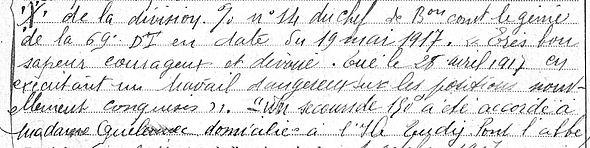 Quelennec Pacal Charles Joachim Ile Tudy Guerre 1914 1918 14-18 Finistère Finistérien Mort pour la France Berry au Bac cote 108 Sapigneul Choléra Moscou Mauchamp