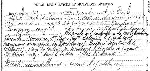 scouarnec alain alan taule lorient 14-18 Finistère Non Mort France Réformé maladie tuberculose suicide fusillé accident