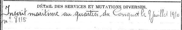 querne jean louis inscrit maritime landunvez tonnoy 14-18 Finistère Non Mort France Réformé maladie tuberculose suicide fusillé accident