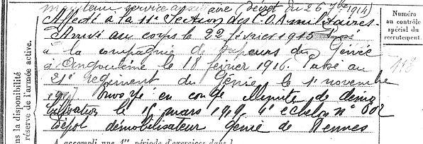 Acquitter Joseph Plouzevede Plougar Guerre 14-18 Finistère Non Mort France Réformé maladie tuberculose suicide fusillé accident