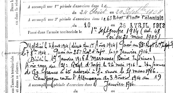 saoutic daniel marie plovan maromme 14-18 Finistère Non Mort France Réformé maladie tuberculose suicide fusillé accident