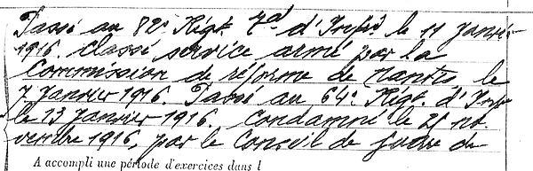pors yves marie plourin mouln banc poudrerie orleansville desertion 14-18 Finistère Non Mort France Réformé maladie tuberculose suicide fusillé accident