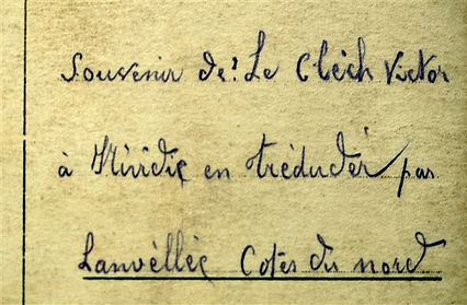 Le Clèch Victor Prisonnier Treouergat plouguin patrimoine histoire guerre 1914 1918 paris patrick milan treduder