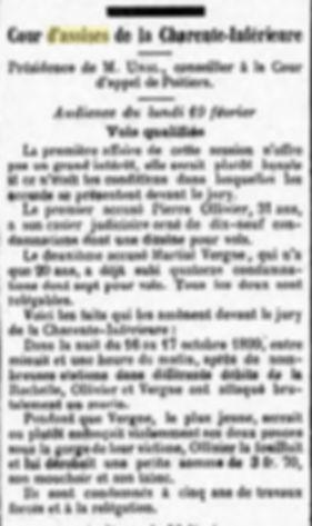 Ollivier Pierre Prosper Jean brest bagne guyane bagnard