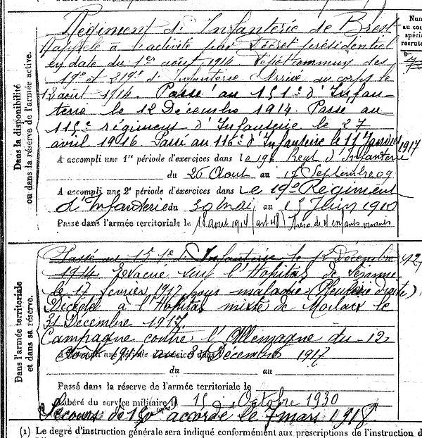 laurent jacques marie pleyber christ morlaix 14-18 Finistère Non Mort France Réformé maladie tuberculose suicide fusillé accident