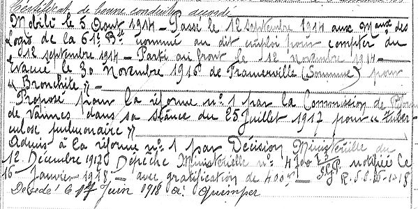 crecy corentin marie quimperle quimper 14-18 Finistère Non Mort France Réformé maladie tuberculose suicide fusillé accident