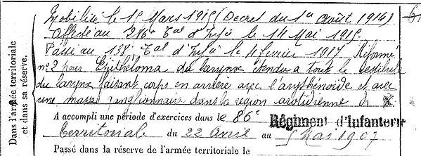 saouter corentin cornelie coray havre 14-18 Finistère Non Mort France Réformé maladie tuberculose suicide fusillé accident