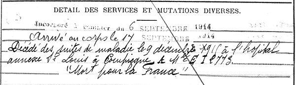 pyriou françois marie joseph edern compiegne 14-18 Finistère Non Mort France Réformé maladie tuberculose suicide fusillé accident