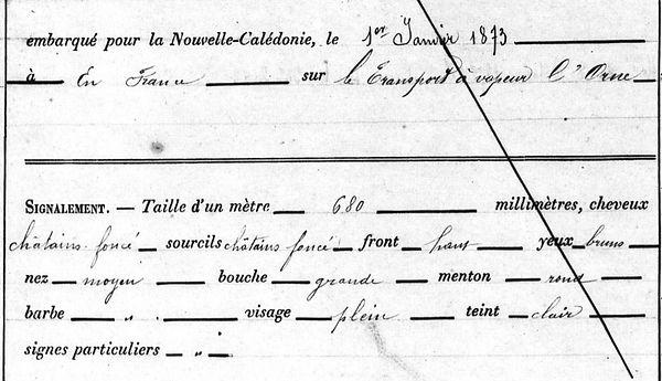 Lebrun Emile Nicolas Auguste brest recouvrance communard commune paris bagne nouvelle cledone