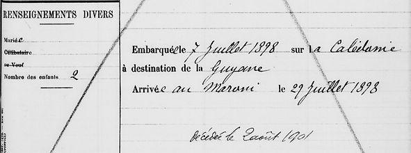 Thépault Catherine Yvonne Marie botshorel brest bagne guyane