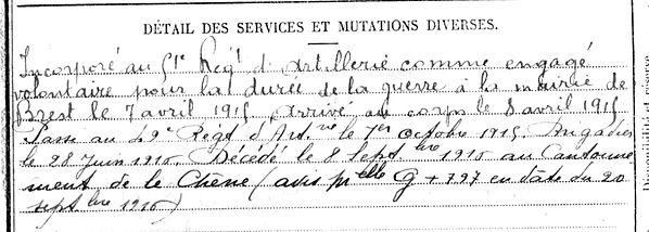 le saint jean louis marie brest lambezellec le cesne ardennes 14-18 Finistère Non Mort France Réformé maladie tuberculose suicide fusillé accident