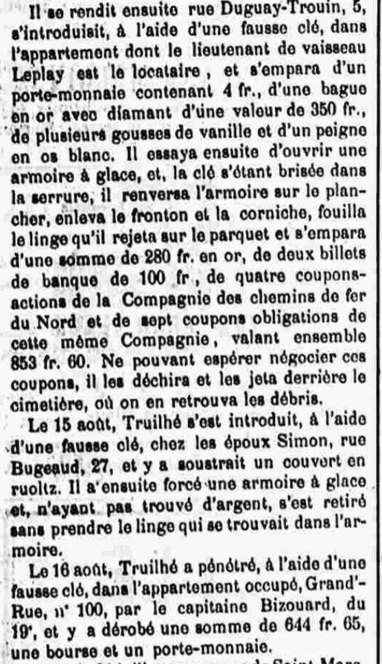 Truilhé Louis Pierre brest evade evasion bagne guyane bagnard rosne rome