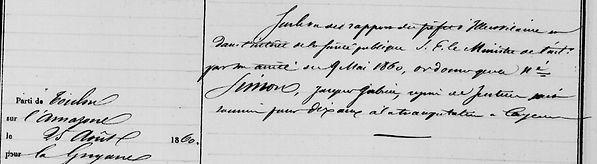 Simon Jacques Gabriel plabennec pierre quilbignon brest saint bagne guyane bagnard