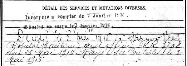 penven joseph arzano brest 14-18 Finistère Non Mort France Réformé maladie tuberculose suicide fusillé accident
