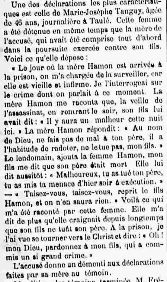 Hamon Jean Marie plouigneau guyomarch bagne guyane bagnard crime
