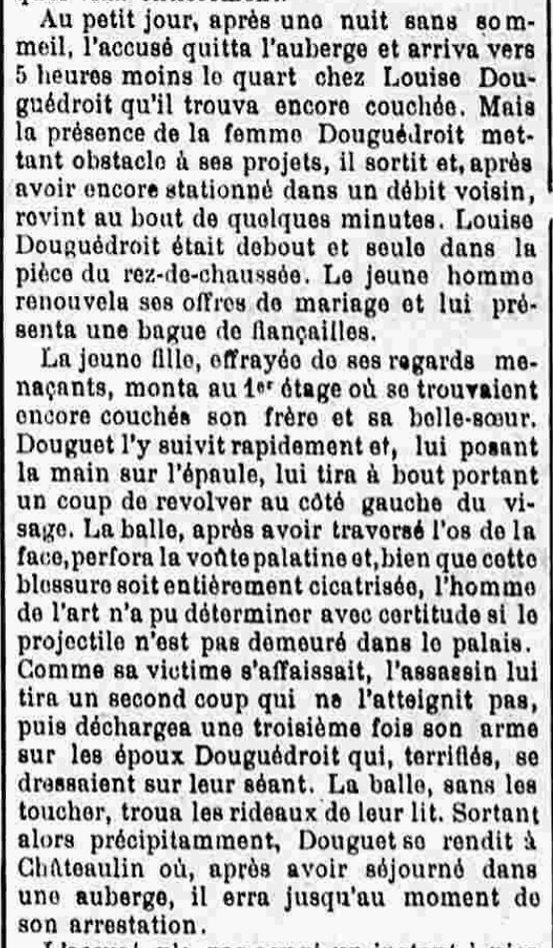 douguedroit Douguet Jean François Joseph lothey bouzard bagne finistere guyane bagnard