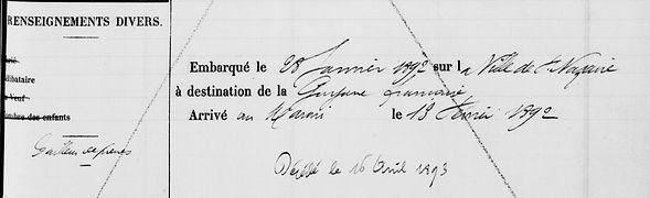 Le Moigne Jean Marie esquibien bagne guyane saint jean maroni bagnard