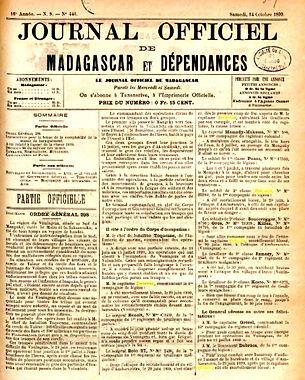 Thepaut Jean Marie Légion Etrangère Madagascar 1899 delavau Plouguin Patrimoine histoire mort pour la France