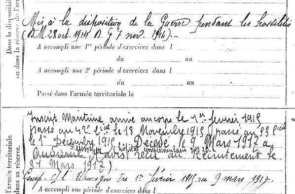 urcun germain primelin marseille rochefort quimper 14-18 Finistère Non Mort France Réformé maladie tuberculose suicide fusillé accident