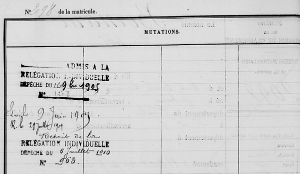 Bernard Léon jules guipavas quemener angers bagne guyane bagnard