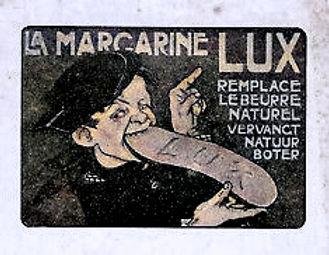 Carte-Pub-La-Margarine-LUX-remplace-beur