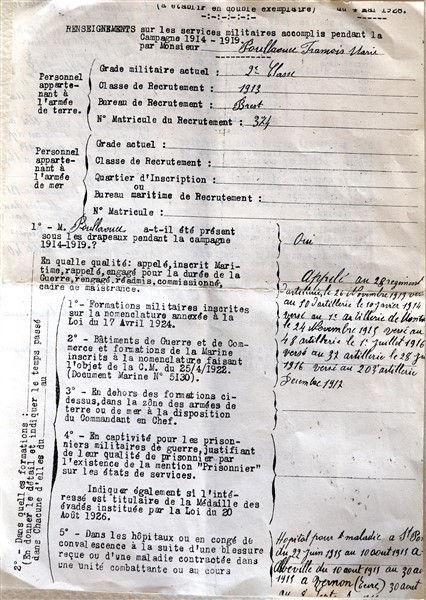 simier madeleine françois marie poullaouec simier patrick milan treouergat 1914 finistere guerre