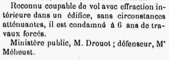 Guillermou Alexandre Louis fouenant deligeard bagne guyane bagnard cayenne