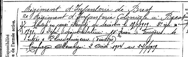 Provost Jean Marie Lampaul ploudalmezeau patrick milan guerre 1914 1918 14 18 patrimoine histoire plouguin finistere saint pabu treouergat bretagne poilu marin