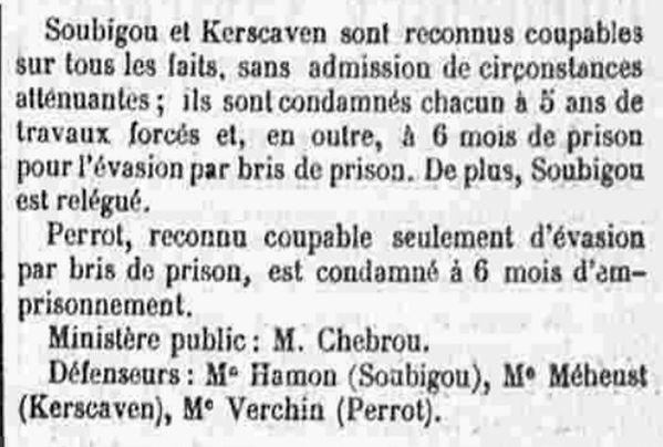 Kerscaven Jean Louis Marie ploudaniel kermoal bagne guyane bagnard finistere