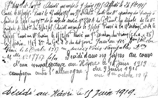 plassart joseph françois marie morlaix havre 14-18 Finistère Non Mort France Réformé maladie tuberculose suicide fusillé accident
