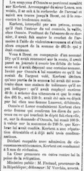 Kerbrat Allain plouguerneau guisseny bagne guyane bagnard finistere