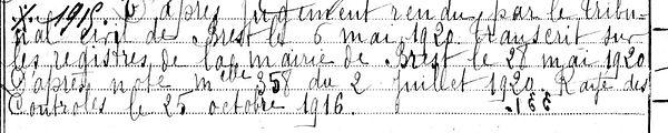 Cadalen Jean Marie Plouguin patrimoine histoire guerre 1914 1918 14 18 treouergat lampaul ploudalmezeau saint pabu soldat marin mort France patrick milan finistere mercel madeleine coat meal treglonou