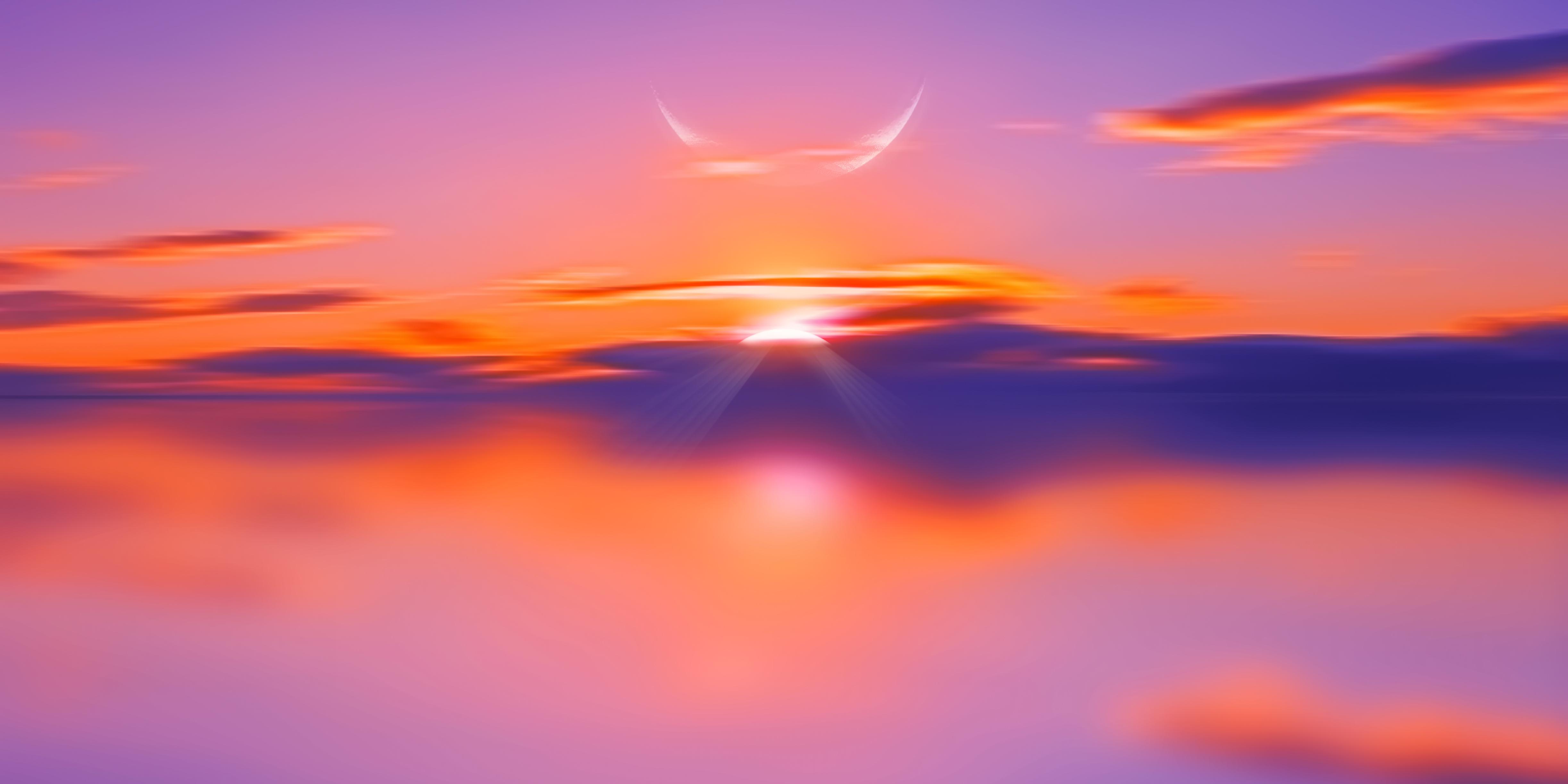 soft sun rise