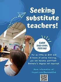Printable flyer -Seeking substitute teachers.png