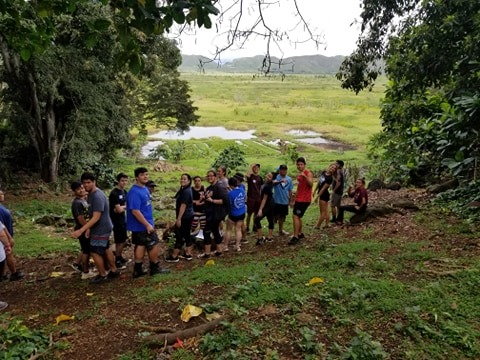 Junior Class at Ulupo Heiau 13
