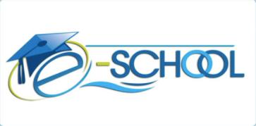 E SCHOOL logo