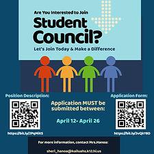 Student Council Application Advertisemen