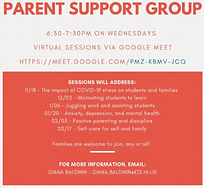 KHS parent support group flyer