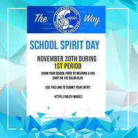 School Spirit Day Flyer