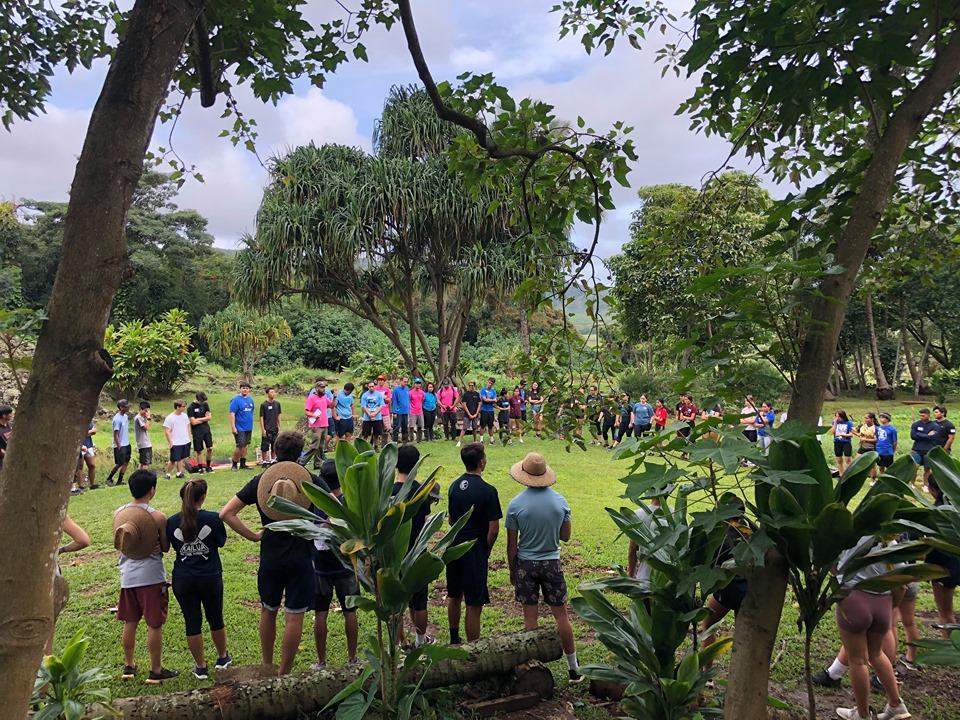 Junior Class at Ulupo Heiau 10