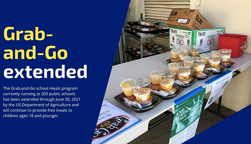 Grab and Go Extended through June 30, 2021