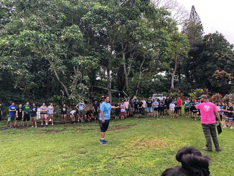 Junior Class at Ulupo Heiau 8