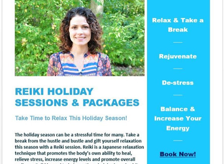 Holiday Reiki Package Specials