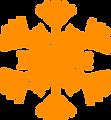 Оранжевая снежинка 2