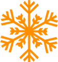 Detailed Orange Snowflake 2